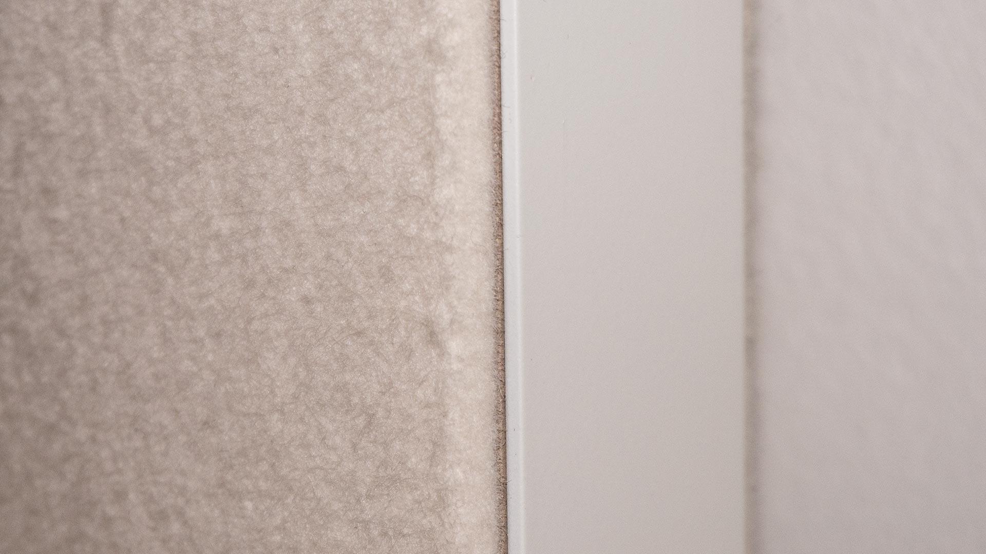 Akustikfilz als Oberfläche auf einer Pivot-Tür