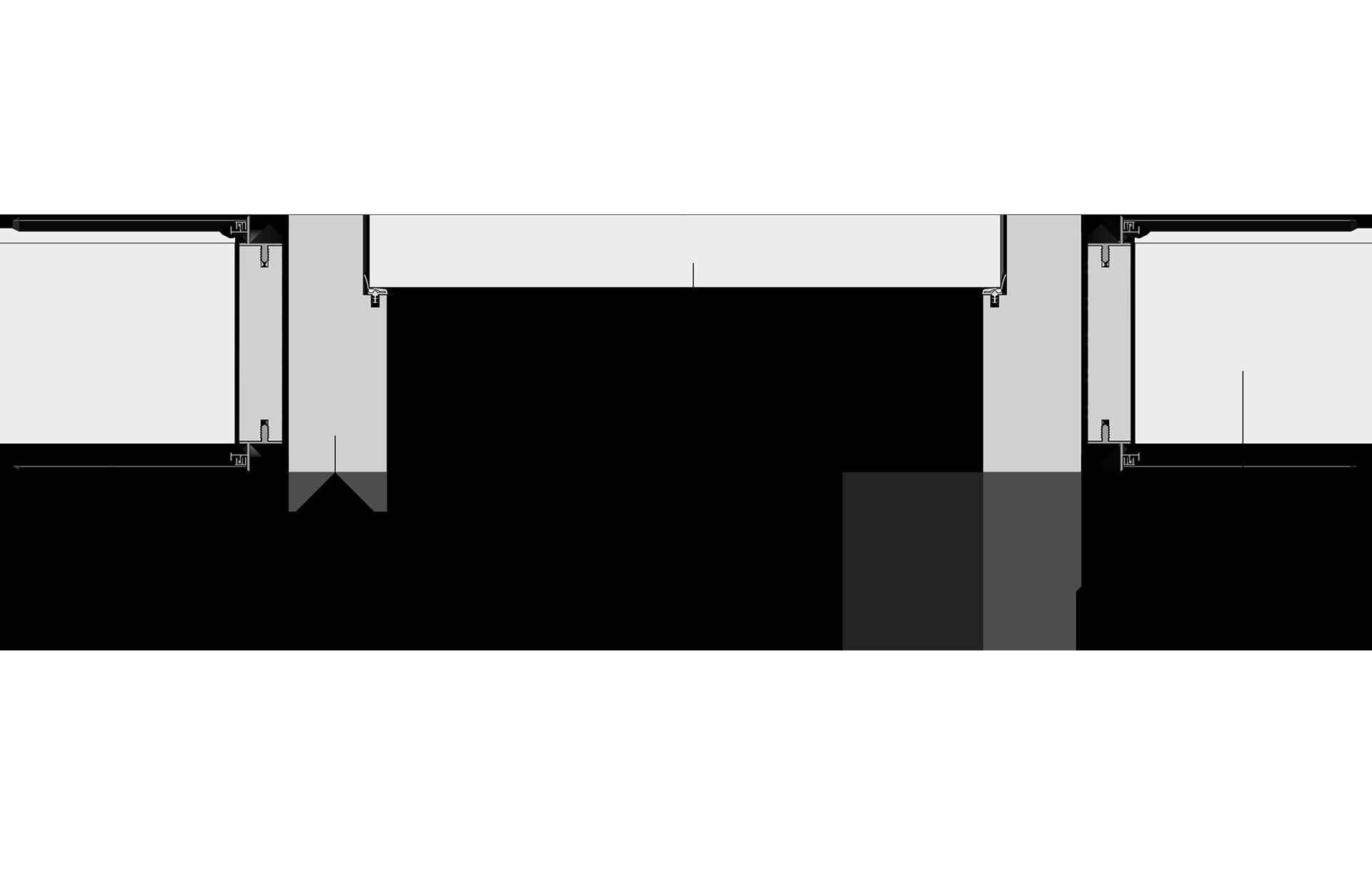 Schema: Wandbündige Blockzarge mit Putzkanten-Set