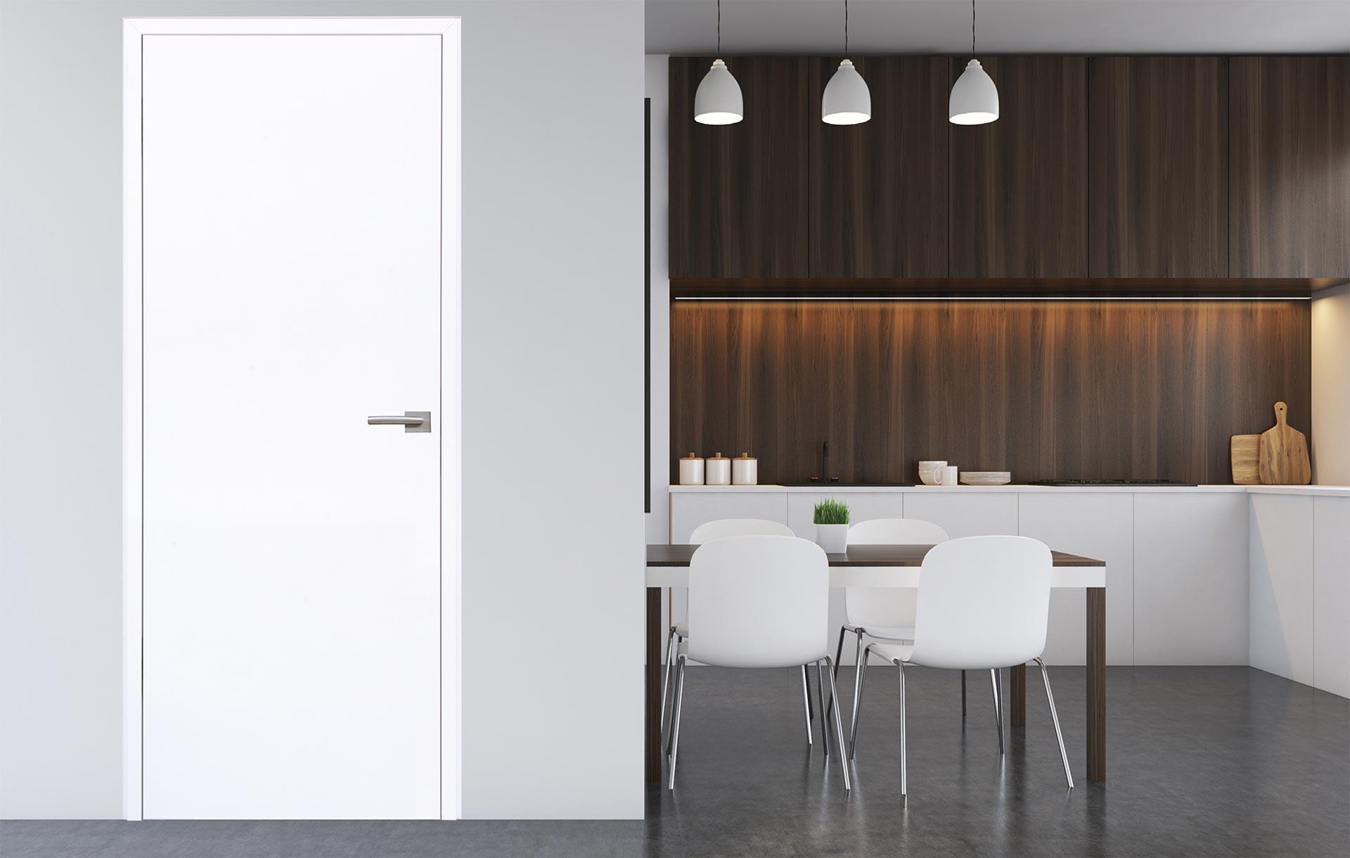 Klassische Zimmertür in Weiß