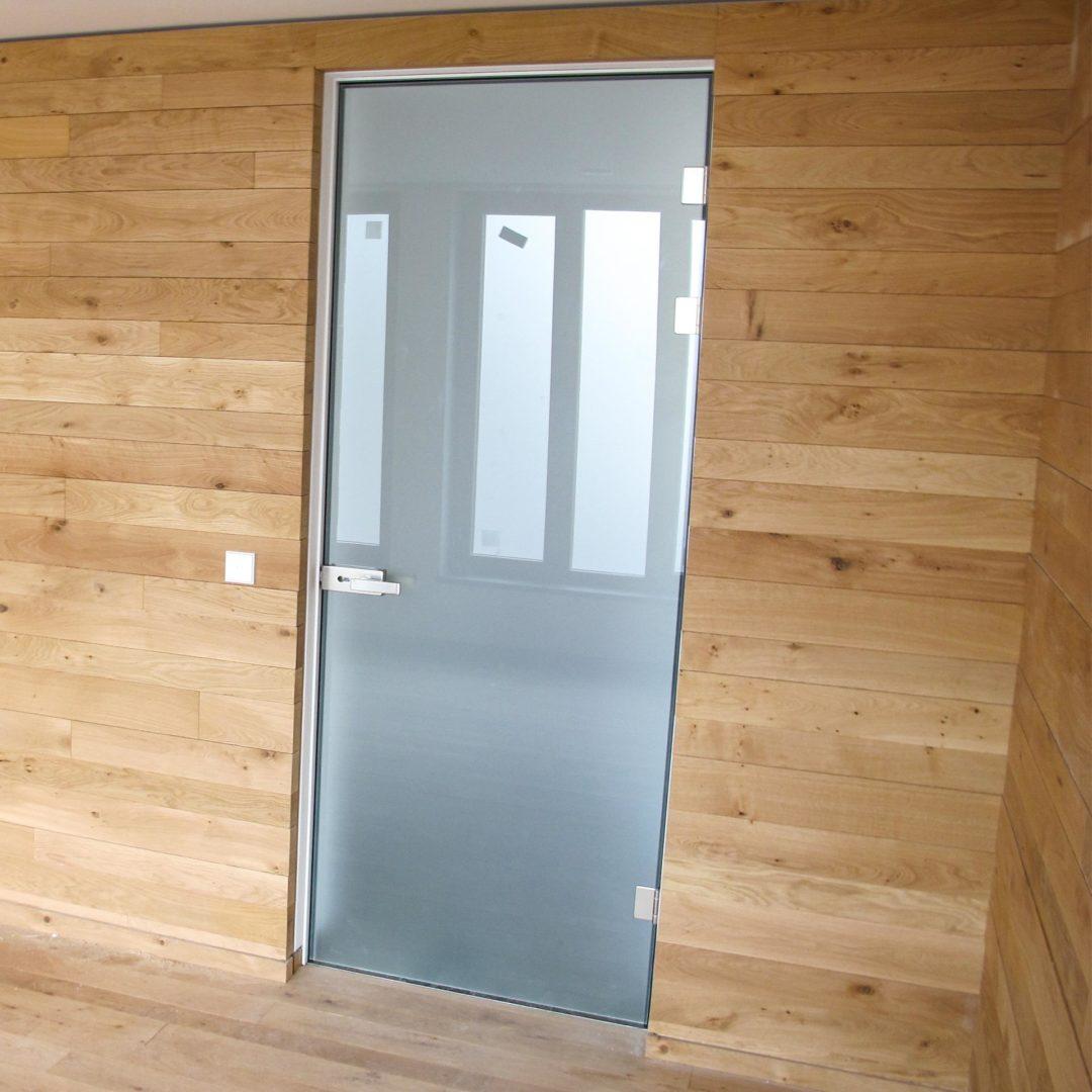 Zimmertüren - Glastür mit Sonderzarge