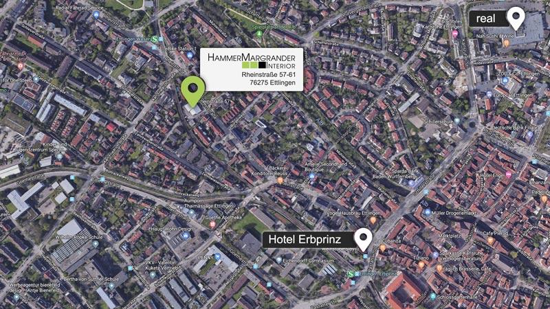 Ab dem 1.April finden Sie Hammer Margrander Interior in der Rheinstraße 57-61 in Ettlingen