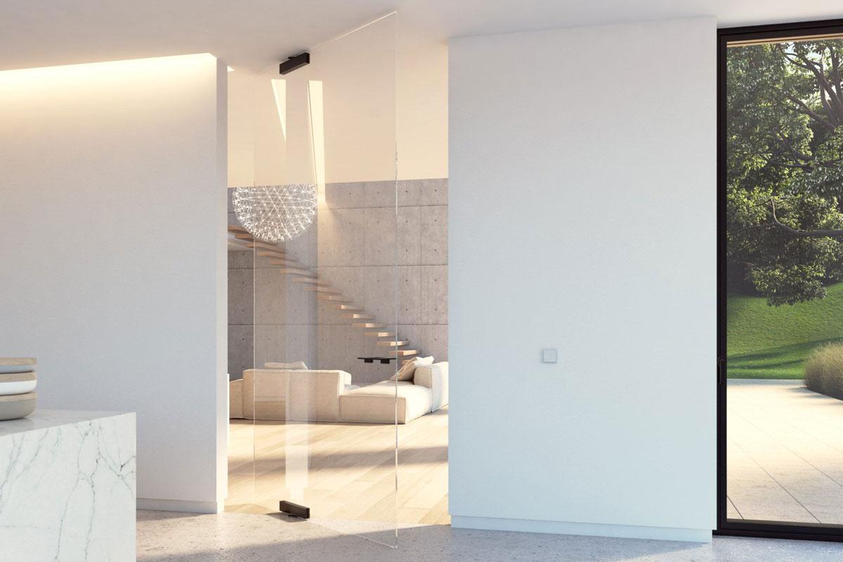 Loft-Tür ohne Metallrahmen